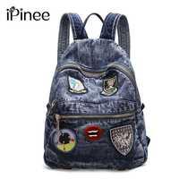 Mochila De mujer iPinee, bolsos casuales de moda de gran calidad, Micro capitulo, bolso de hombro para mujer, mochilas de mezclilla para niñas, moch
