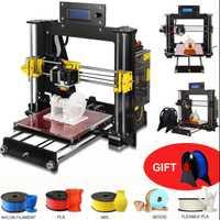 Zrprinting 2018 nuevo 3D impresora Prusa i3 Reprap MK8 DIY Kit de MK2A Heatbed controlador LCD ranura en V reanudar poder fracaso de impresión