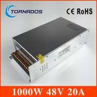 De salida única de pequeño volumen 1000 W 48 V 20A transformador de suministro de energía de conmutación AC110V 220 V a DC SMPS para luz LED CNC paso a paso