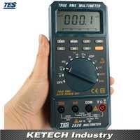 Multímetro true RMS 3 3/4 LCD Digital ohmios diodo continuidad audible TES2620
