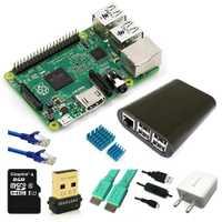 Kit de inicio de Raspberry Pi 2 Modelo B/funda/Wifi/tarjeta SD/HDMI/disipador de calor/5V2A adaptador/en/interruptor de Cable/Cable de red RJ 45/placa base