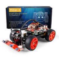 SunFounder Raspberry Pi 3 Robot inteligente Kit de coche PiCar-línea S siguientes ultrasónico Sensor de luz módulo siguiente Kit de Robot