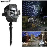 Tanbaby LED copo de nieve Luz de proyector impermeable nevadas lámpara con control remoto de Festival de Halloween vacaciones decoración al aire libre