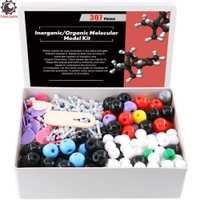 307 piezas química Molecular modelo Kit orgánicos e inorgánicos para estudiante estudio ayuda modelo Molecular 126 átomos y 30 orbitales
