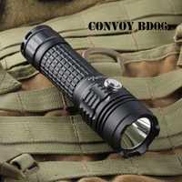 Convoy BD06 linterna antorcha linterna CREE XM-L2 1000lm 18650 linterna antorcha linterna auto defensa impermeable linterna de luz de Camping