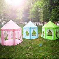 Enfants tentes hexagone Playhouse dormir dôme intérieur extérieur filles château tipi grande tente de jeu bébé jouets maison balle piscine
