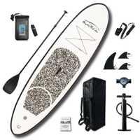 Planche de Surf gonflable Stand Up planche de Surf Sup-Board Kayak set de Surf 10'x30''x4''avec sac à dos, laisse, pompe, sac étanche
