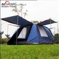 3-4 personas uso doble capa impermeable a prueba de viento y fácil de llevar camping playa Tienda Familiar wigwam