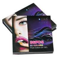 EA UV pintura Gel artes uñas Color puro cubierta Gel dibujo esmalte de uñas juego de 36 colores