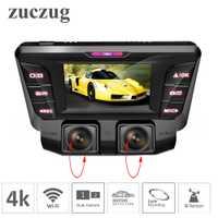 ZUCZUG 4 K oculta Wifi coche DVR Cámara Novatek NT96660 Dash Cam dual lente SONY IMX323 coche grabadora de Video Dual 1080 p HDMI