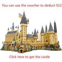 Harry Potter la película serie Legoinglys Hogwarts Castillo bloques de construcción ladrillos gran modelo de Casa de Navidad juguetes para los niños