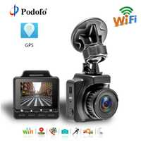 Podofo 1,5 pulgadas Mini Wifi Car DVR Novatek 96658 Registrator vídeo Dash Cámara FHD 1080 p Video Recorder GPS automotriz dash Cam