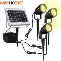 3 en 1 LED al aire libre luz Solar IP66 impermeable de energía Solar LED de la lámpara de luz de inundación al aire libre jardín Patio paisaje césped