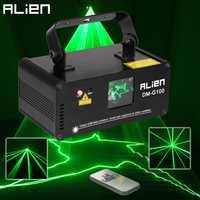 Alienígena DMX 100 mW verde láser etapa iluminación escáner Effcet de Bar fiesta de baile mostrar la luz de discoteca DJ láser proyector luces