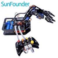 SunFounder Diy electrónica brazo robótico kit 4 eje de Servo Control Rollarm con controlador con cable para Arduino Uno R3