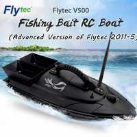Flytec V500 cebo de pesca barco RC 500m distancia buscador de peces de doble Motor 2-24 Horas barco RC al aire libre juguete con el transmisor