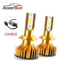 Aceersun H7 LED H7 H4 9005 9006 H11 H8 H9 Luz de niebla del coche Canbus 12 V 24 V DOB 10000LM para motocicleta de camión Auto haz Super Mini