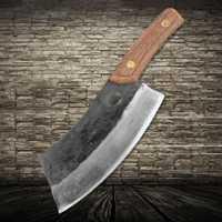 XITUO cocina Chef cuchillo de acero de manganeso de dureza acero revestido de acero forjado hoja carnicero cortar los huesos de carne de vacuno cuchillo chino