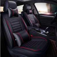 Nuevo de lujo de cuero PU Auto Universal cubiertas de asiento de coche de asiento para toyota lada kalina granta priora renault logan