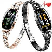 Reloj inteligente de moda para mujer con Monitor de ritmo cardíaco y presión arterial podómetro reloj inteligente para teléfonos Android IOS