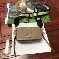 2019 nouveau sac photo large bandoulière mixte couleur couture petit sac carré en cuir dames sac à main double fermeture éclair petit devrait