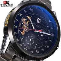Reloj Mecánico TEVISE para hombre, reloj automático de lujo para hombre, reloj de pulsera resistente al agua para hombre