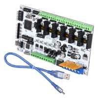 BIQU Rumba placa MPU versión optimizada para la Junta de control de apoyo DRV8825 A4988 conductor 3D piezas de la impresora MK8 RepRap