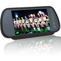 Coche de 7 pulgadas TFT LCD Monitor de espejo retrovisor monitor de coche Auto vehículo retrovisor aparcamiento inversa HD 800x480