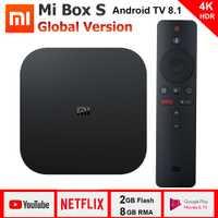 Xiao mi mi Boîte S 4 K TV Box Cortex-A53 Quad Core 64 peu Mali-450 1000Mbp Android 8.1 2 GB + 8 GB HD mi 2.0 2.4G/5.8G WiFi BT4.2 Dernière