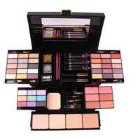 La srta. ROSE maquillaje profesional caja mate brillo sombra de ojos en polvo Blush mujer Multi-funcional paleta cosméticos caso #288903