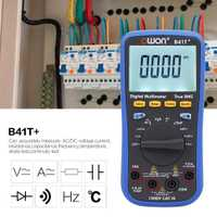 Owon B41T + multímetro Digital de retroiluminación LCD multímetro Bluetooth AC/DC amperímetro del voltímetro de verdadero valor eficaz RMS de resistencia continuidad