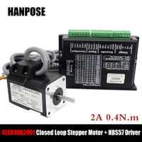 Motor paso a paso 17HS4401 híbrido-servo motor NEMA 17 2A 0.4N.m + HBS57 de bucle cerrado controlador Servo controlador CNC kit de