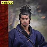 1/6 escala WOLFKING WK89015A Miyamoto Musashi 2,0 traje juego de figuras de acción esculpir modelo 12 'conjunto completo cuerpo de figura de acción muñecas Juguetes
