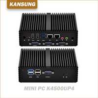 Mini PC Server Core i7 apoyo Linux Ubuntu ganar sin ventilador Micro computadora 2 Gigabit NIC caja PC computadora Personal