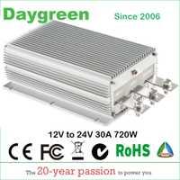 12 V a 24 V 20A 25A 30A STEP UP DC convertidor 30 AMP 720 Watt 12VDC a 24VDC 30AMP regulador de voltaje Módulo de aumento de potencia CE ROHS