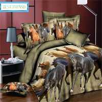 Mejor. Ropa de cama y juegos de cama de dormitorio WENSD REY DE california fundas cómodas y edredones gato caballo Panade beddengoed