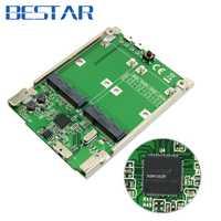 2,5 pulgadas Dual Mini pci-E pcie pci express pci-express mSATA SSD RAID adaptador a USB 3,1 Hardware Raid tarjeta Raid0 Raid1 o PM