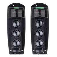 Safurance cable 250 M Triple haz fotoeléctrico infrarrojo LED Detector Tamper alarma salida seguridad del hogar