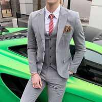 Personnalisé Printemps costume costume costume, hommes Plaid loisirs de costume, le costume des hommes, trois costumes, robe de mariée, groomsman d'affaires