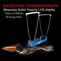 Función de registro del probador de velocidad del cronógrafo de velocidad de bala medidas de visualización LCD del cronógrafo para la caza PP35-0005