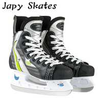Japy skate acción hielo Hockey Zapatos adulto niño patines de hielo profesional cuchillo de hielo Hockey cuchillo Zapatos patines de hielo real