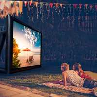 Grand écran de cinéma gonflable Projection extérieure 16:9 carré avec ventilateur cinéma à Air ouvert écran de projecteur à la maison