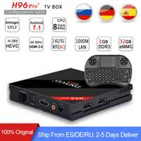 [De] h96 pro plus 3G 32G caja de TV inteligente Android 7,1 Amlogic S912 OCTA Core Wifi 4 K H.265 h96 reproductor de medios h96pro set top box