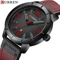 Los Hombres ven 2019 CURREN relojes de pulsera de cuarzo para Hombres Reloj masculino de marca superior de lujo Reloj Hombres relojes de pulsera de cuero con calendario