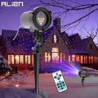 ALIEN RGB Remote Static Star Dots láser proyector Luz Jardín exterior impermeable Navidad árbol Navidad vacaciones ducha iluminación