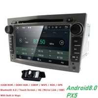 2DIN 4G RAM 32G ROM Octa Core Android8.0 coche reproductor de DVD para el Opel Astra H Vectra Opel Corsa Zafira B C G GPS Radio estéreo WIFI DVR OBD