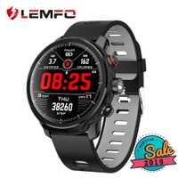 LEMFO reloj inteligente con pantalla táctil completa IP68 impermeable Smartwatch múltiples deportes modos control de la frecuencia cardíaca para los hombres