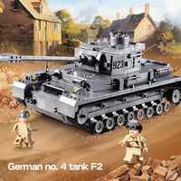 Creador bloques técnica Compatible LegoINGLYS WW2 militar tanque Tigre armas Vehículo blindado ladrillos juguetes para niños