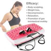 Fitness de masaje de vibración Placa de construcción del cuerpo para adelgazar máquina de la pérdida de peso de grasa gimnasio ejercicio Fitness dispositivo