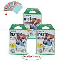 De Fujifilm Instax Mini 9 película Fuji papel fotográfico blanco 60 hojas para Mini 9 8 50 s 7 S 90 25 compartir SP-1 SP-2 cámaras instantáneas